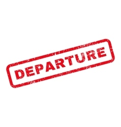 Departure Text Rubber Stamp vector