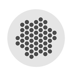 Earphones or microphone grille dots template vector