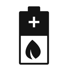 Eco energy battery simple icon vector