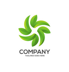 Eco environment green leaf nature logo vector