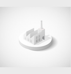 Factory hangar isometric city icon dimensional vector