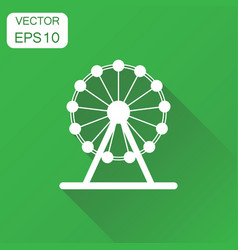 ferris wheel icon business concept carousel in vector image