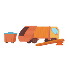flat construction site icon vector image