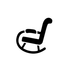 flat icon of rocking chair vector image