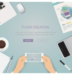 Flat style modern design concept of creative vector