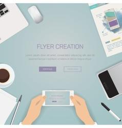 Flat Style Modern Design Concept of Creative vector