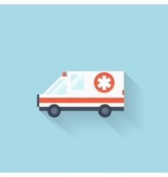 Flat web internet icon Ambulance car vector image