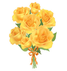 Flower rose bouquet isolated on white background vector