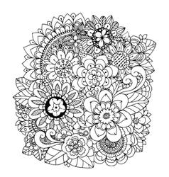 Flowers mushroom Doodle vector