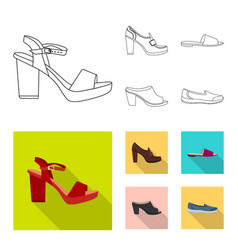 footwear and woman logo vector image