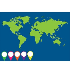 Globe with signals application vector image