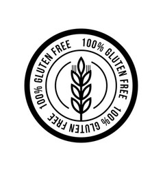 Gluten free seals black and white design can be vector