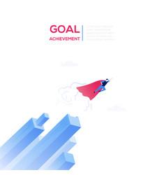 Goal achievement - modern isometric web vector