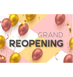 Grand opening reopening ceremony banner vector
