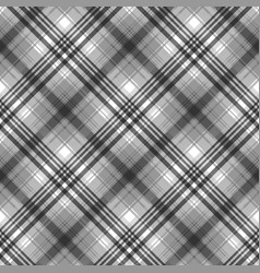 gray black white pixel check plaid seamless vector image