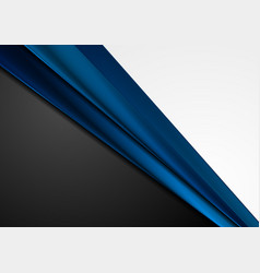 grey black and dark blue abstract corporate vector image