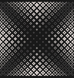 Halftone texture seamless pattern with cross vector