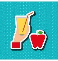 healthy drink design vector image