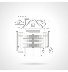 Home secure gateway detailed line icon vector
