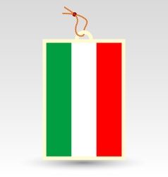 Hungarian flag made in tag vector