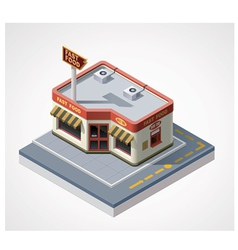 Isometric fast food cafe vector