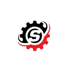 letter s gear logo design template vector image