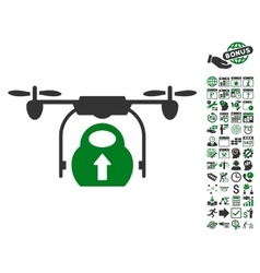 Load Cargo Drone Icon With Bonus vector image