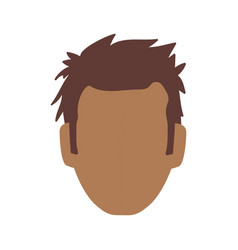 Man faceless avatar vector