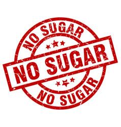No sugar round red grunge stamp vector