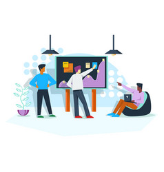 office work planning with employers vector image
