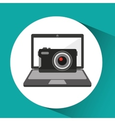 Online store shopping photographic camera graphic vector
