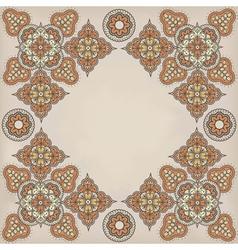 Paisley frame vector