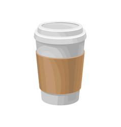 Paper coffee cup take away coffee packaging vector