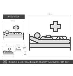 Patient line icon vector image