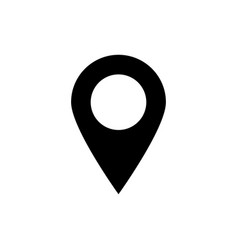 Pin icon location sign isolated vector