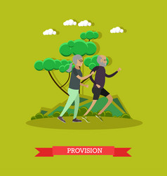 Provision for the elderly concept vector