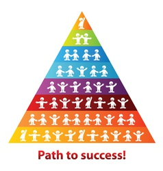 Pyramid of success business vector