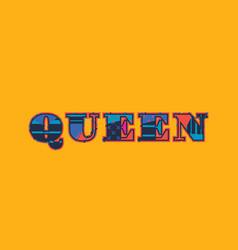 Queen concept word art vector
