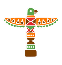 Religious spiritual totem with eagle native vector