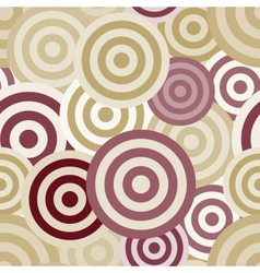 Seamless circle pattern vector image