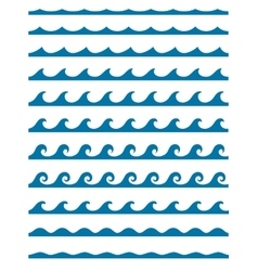 Set of seamless patterns with stylized waves vector image