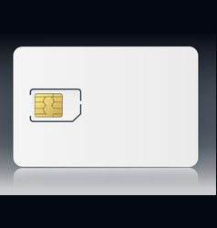 sim mobile cellular phone sim card chip vector image