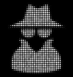 Spy halftone icon vector