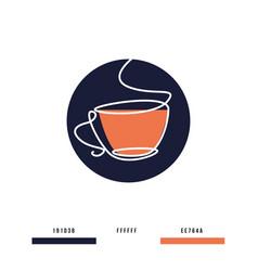 Tea lineart vector