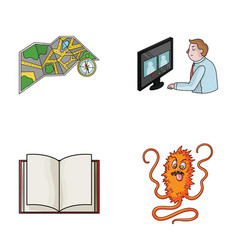 Travel education and other web icon in cartoon vector