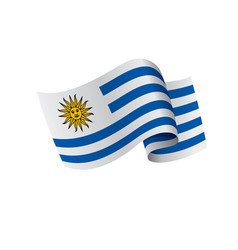 Uruguay flag vector