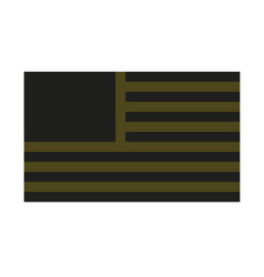 usa flag simplified military stealth vector image