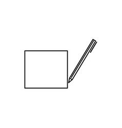 writing note icon vector image