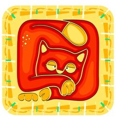 year cat chinese horoscope animal sign vector image