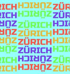 Zurich switzerland seamless pattern vector